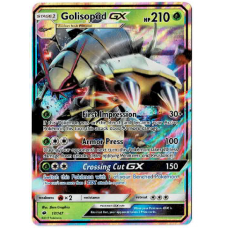Golisopod GX Pokemon Card Sun and Moon Burning Shadows 17/147 Ultra Rare Holo