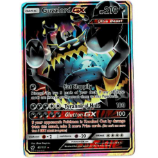 Guzzlord GX Full Art Pokemon Card S/M Crimson Invasion 63/111 Ultra Rare Holo