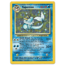 Vaporeon Error Pokemon Card Jungle Set 12/64 Rare Holo