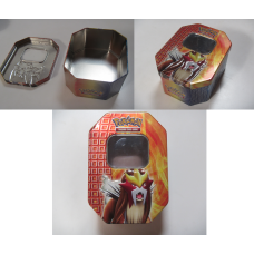 1 x Random Large Pokemon Storage Tin Empty - Holds 300 Cards
