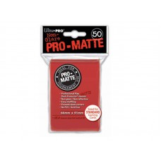 Ultra Pro 50ct Standard Red Pro-Matte Deck Protector Card Sleeves 50 Per Pack