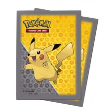 Ultra Pro Pokemon 65ct Standard Pikachu Grey Deck Protector Card Sleeves 65 Per Pack