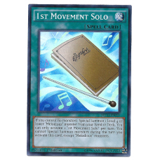 1st Movement Solo YuGiOh Card NECH-EN059 1st Edition Super Rare Holo