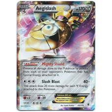 Aegislash EX Pokemon Card XY Phantom Forces 65/119 Ultra Rare Holo