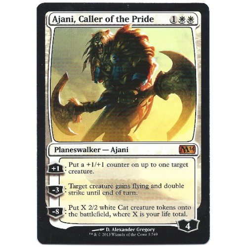 Ajani, Caller of the Pride Magic: The Gathering Card M14 ... Rare Magic Cards