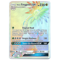 Alolan Exeggutor GX Full Art Pokemon Card S/M Crimson Invasion 118/111 Hyper Rare Holo