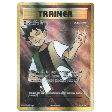 Brock's Grit Trainer Full Art Pokemon Card XY Evolutions 107/108 Ultra Rare Holo