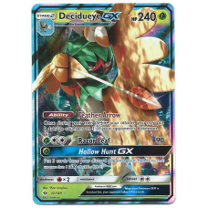 Decidueye GX Pokemon Card Sun and Moon 12/149 Ultra Rare Holo