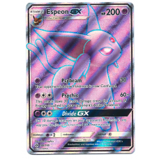 Espeon GX Full Art Pokemon Card Sun and Moon 140/149 Ultra Rare Holo