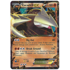 Excadrill EX Pokemon Card BW Legendary Treasures 82/113 Ultra Rare Holo