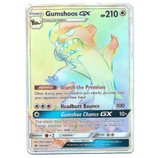 Gumshoos GX Full Art Pokemon Card Sun and Moon 157/149 Hyper Rare Holo