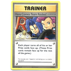 Here Comes Team Rocket Trainer Pokemon Card XY Evolutions 113/108 Secret Rare