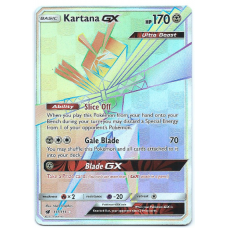 Kartana GX Full Art Pokemon Card S/M Crimson Invasion 117/111 Hyper Rare Holo