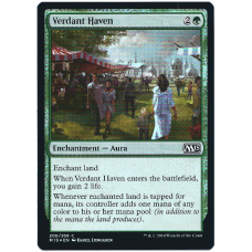 Verdant Haven Magic: The Gathering Card Enchantment 2015 Core Set Common Foil