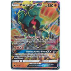 Marshadow GX Pokemon Card Sun and Moon Burning Shadows 80/147 Ultra Rare Holo