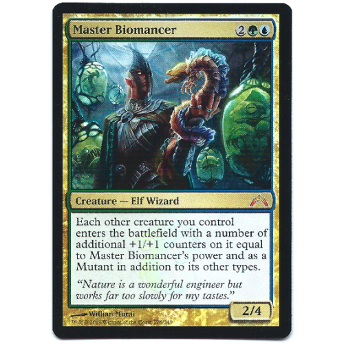 Master Biomancer Magic: The Gathering Foil Card Gatecrash ... Rare Magic Cards