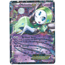 Meloetta EX Pokemon Card BW Legendary Treasures Radiant Collection RC11/RC25 Ultra Rare Holo