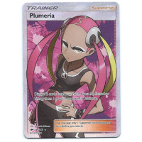 Plumeria Trainer Full Art Pokemon Card Sun and Moon Burning Shadows 145/147 Ultra Rare Holo
