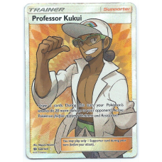 Professor Kukui Trainer Full Art Pokemon Card Sun and Moon 148/149 Ultra Rare Holo