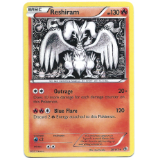 Reshiram Pokemon Card BW11 Legendary Treasures 28/113 Rare Holo
