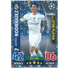 James Rodriguez Match Attax Card UCL 2015/16 86 Star Player Rare Holo