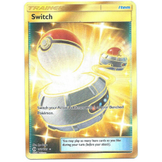 Switch Trainer Full Art Pokemon Card Sun and Moon 160/149 Secret Rare Holo
