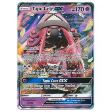 Tapu Lele GX Pokemon Card Sun and Moon Guardians Rising 60/145 Ultra Rare Holo