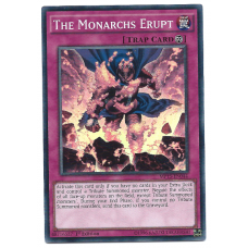 The Monarchs Erupt YuGiOh Card MP15-EN044 1st Edition Super Rare Holo