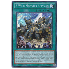 A Wild Monster Appears YuGiOh Card SECE-EN064 1st Edition Secret Rare Holo