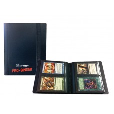 Ultra Pro 2-Pocket PRO-Binder Black Holds 80 Cards New