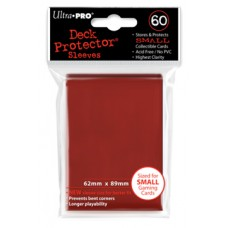 Ultra Pro 60ct Small Imperial Red Deck Protector Card Sleeves 60 Per Pack