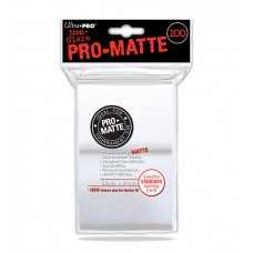 Ultra Pro 100ct Standard White Pro-Matte Deck Protector Card Sleeves 100 Per Pack