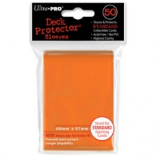 Ultra Pro 50ct Standard Orange Deck Protector Card Sleeves 50 Per Pack