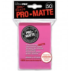 Ultra Pro 50ct Standard Pink Pro-Matte Deck Protector Card Sleeves 50 Per Pack