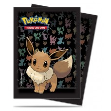 Ultra Pro Pokemon 65ct Standard Eevee Black Deck Protector Card Sleeves 65 Per Pack