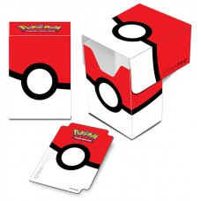 Ultra Pro Pokemon Red and White Pokeball Full View Deck Box New