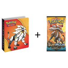 Pokemon Sun and Moon Collector's Mini Portfolio Storage Album + Booster Pack
