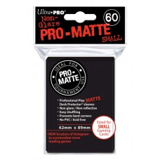 Ultra Pro 60ct Small Black Pro-Matte Deck Protector Card Sleeves 60 Per Pack