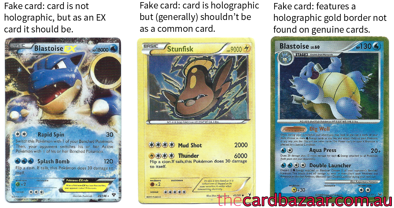 how to spot fake pokemon cards