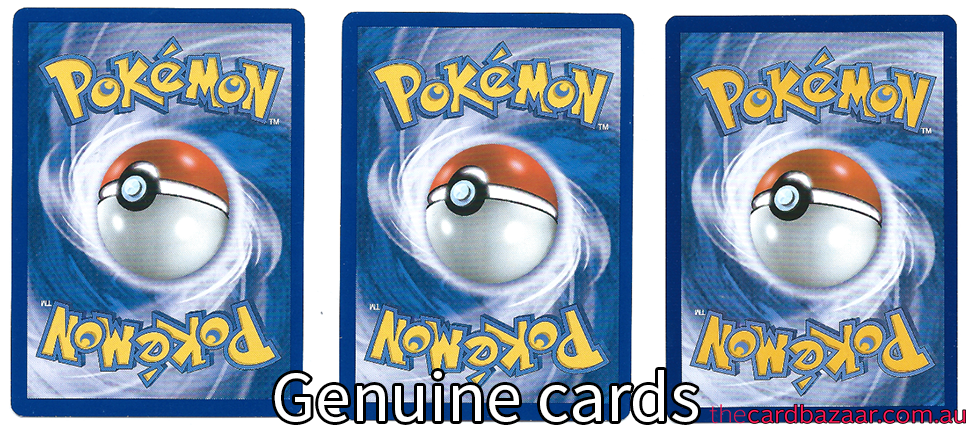 reverse side of real Pokemon cards.